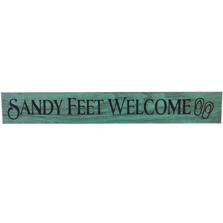 Palm Island Home Sandy Feet Welcome Wood Art