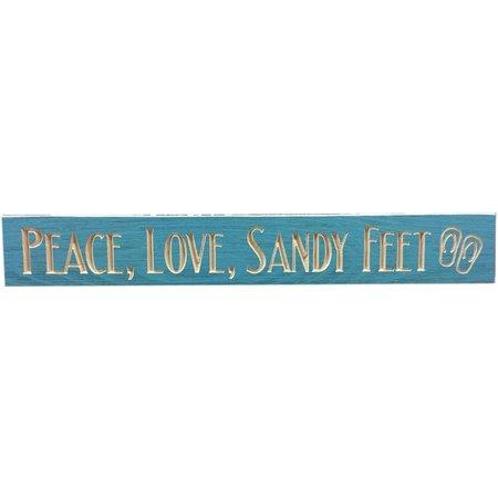 Palm Island Home Peace Love Sandy Feet Wood