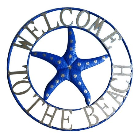 JD Yeatts Beach Starfish Metal Wall Art