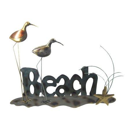 JD Yeatts Beach Birds Metal Wall Art