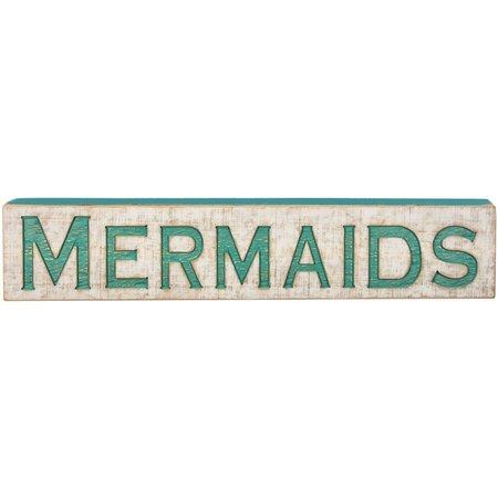 Primitives By Kathy Mermaid Carved Wood Sign