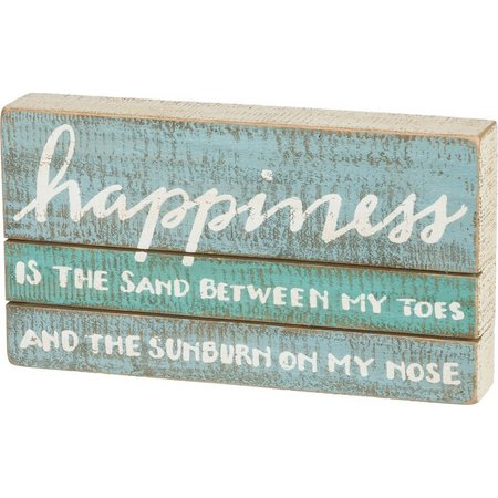 Primitives By Kathy Happiness Slat Box Sign