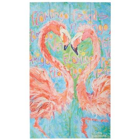 Leoma Lovegrove Flamingo Friends Pallette Wall Art