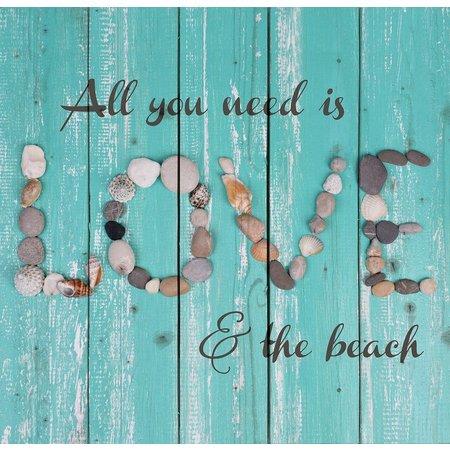 P. Graham Dunn Love Beach Plank Art