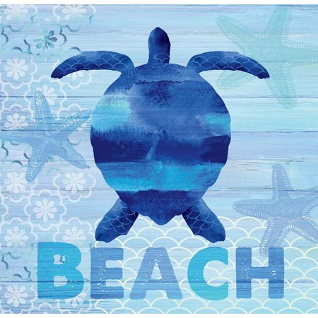P. Graham Dunn Beach Turtle Wood Plank Art