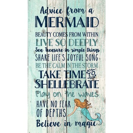 P. Graham Dunn Advice From A Mermaid Wall