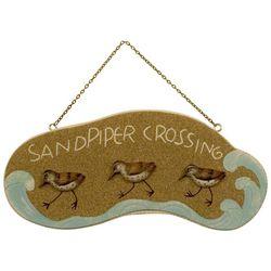 T.I. Design Sandpiper Crossing Wall Plaque