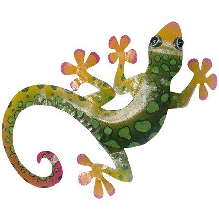 T.I. Design Green Gecko Wall Decor