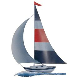 T.I. Design Metal Sail Boat Wall Art