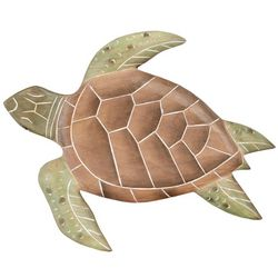 New! T.I. Design Wooden Turtle Wall Figurine