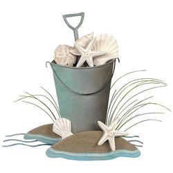 T.I. Design Bucket of Shells Wall Art