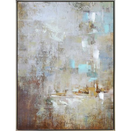 GW Art Restored Abstract Framed Canvas Art