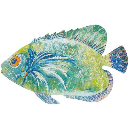 Leoma Lovegrove Captain Jack Fish Metal Wall Art