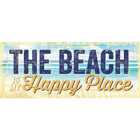 Artistic Reflections Beach Happy Place Wood Sign