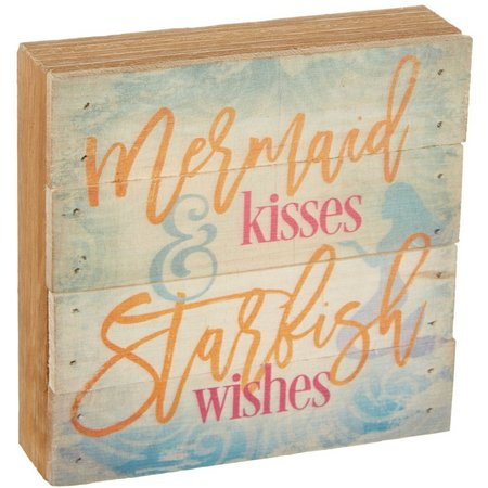 Artistic Reflections Mermaid Kisses Wood Art
