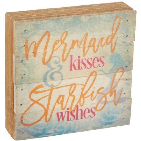 Artistic Reflections Mermaid Kisses Wood Art