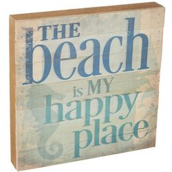 Artistic Reflections Beach Happy Place Wood Art