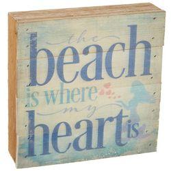 Artistic Reflections Beach Is My Heart Wood Art