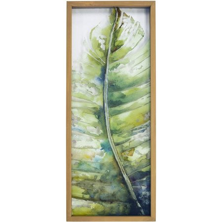 New! New View Palm Leaf Dimensional Framed Art