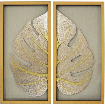 New! New View 2-pc. Gold Leaf Framed Art
