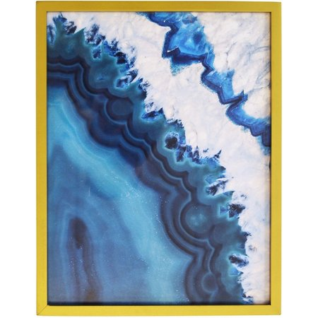 New! New View Blue Wave Framed Art