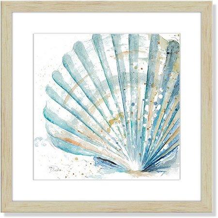 Palm Island Home Watercolor Shell Framed Art