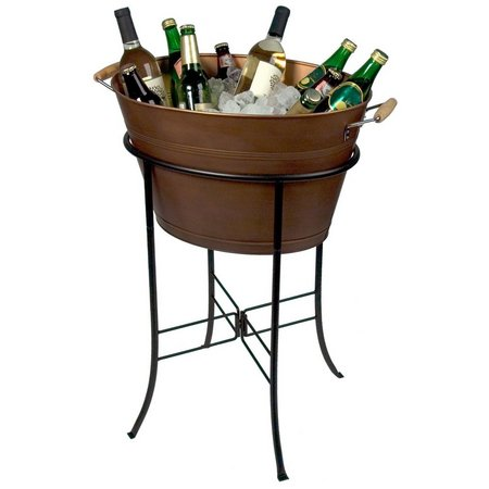 Artland Oasis Copper Finish Oval Party Tub &