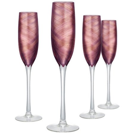 Artland 4-pc. Misty Flute Glass Set