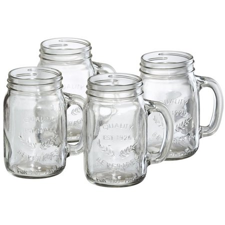 Artland Oasis 4-pc. Mason Jar Glass Set