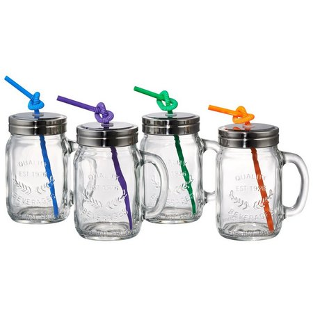 Artland Oasis 4-pc. Mason Jar Glass Gift Set