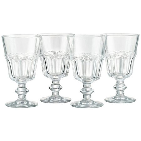 Artland Pearl Ridge 4-pc. Retro Wine Goblet Set