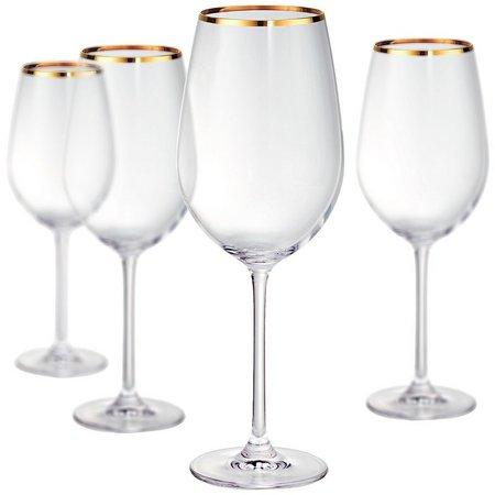 Artland Gold Band 4-pc. Bordeaux Wine Goblet Set