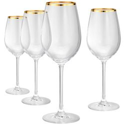 New! Artland Gold Band 4-pc. Red Wine Goblet