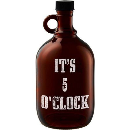 Artland It's 5'Oclock Somewhere Beer Growler