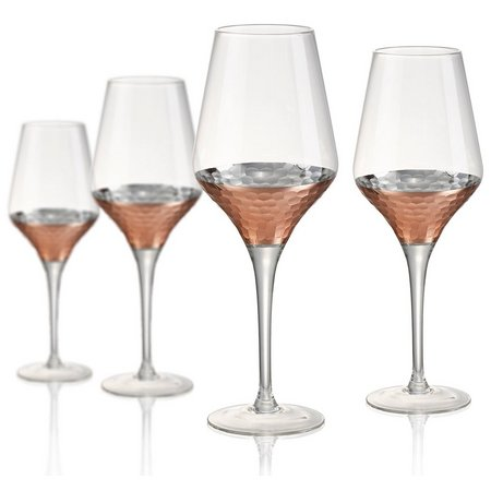 Artland Coppertino Hammered 4-pc. Wine Goblet Set