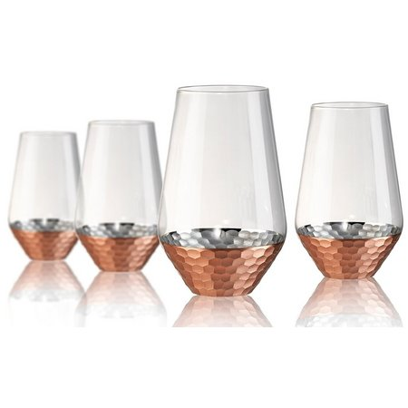 Artland Coppertino Hammered 4-pc. Highball Set