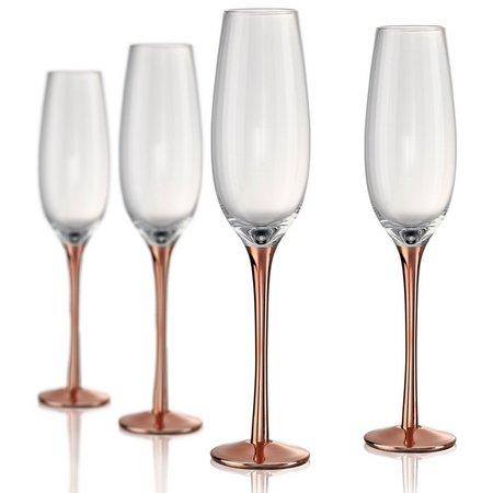 Artland Coppertino 4-pc. Flute Glass Set