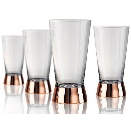 Artland Coppertino 4-pc. Highball Glass Set