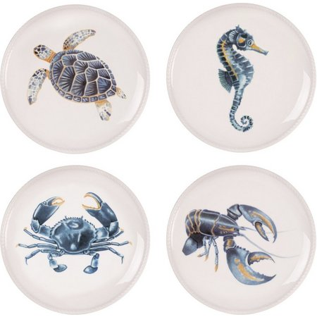 Fitz & Floyd Cape Coral 4-pc Accent Plate
