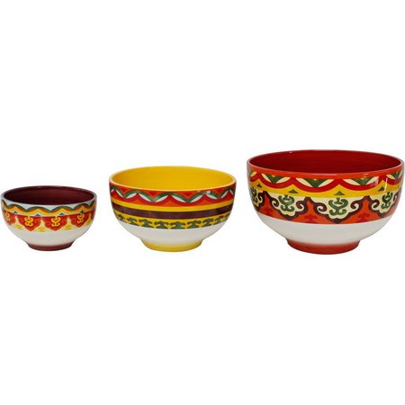 Euro Ceramica Galicia 3-pc. Serving Bowl Set