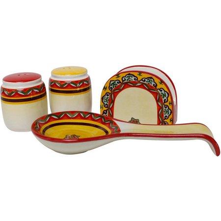 Euro Ceramica Galicia 4-pc. Accessory Set