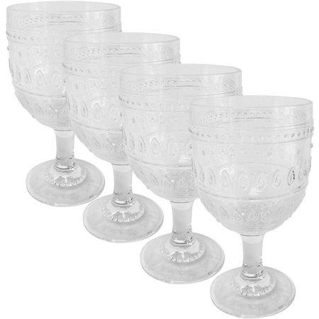 Euro Ceramica Fez 4-pc. Wine Glass Set