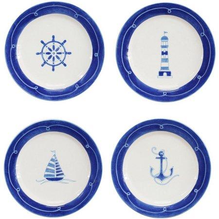 Euro Ceramica Ahoy 4-pc. Salad Plate Set