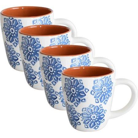 Euro Ceramica Azul Tile 4-pc. Mug Set