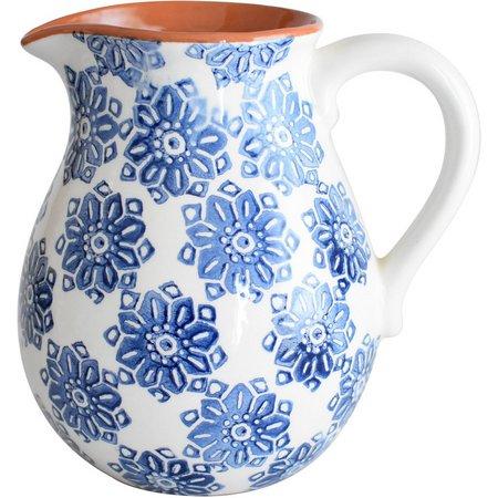 Euro Ceramica Azul Tile 2 Liter Pitcher