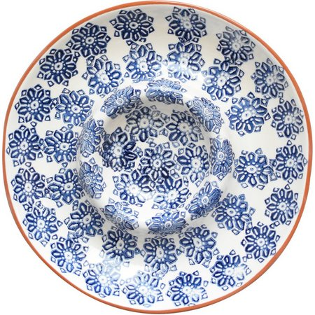 Euro Ceramica Azul Tile Chip N Dip Platter