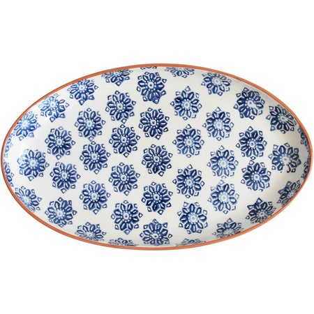 Euro Ceramica Azul Tile Oval Platter