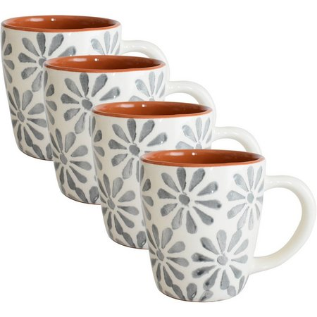 Euro Ceramica Margarida 4-pc. Mug Set