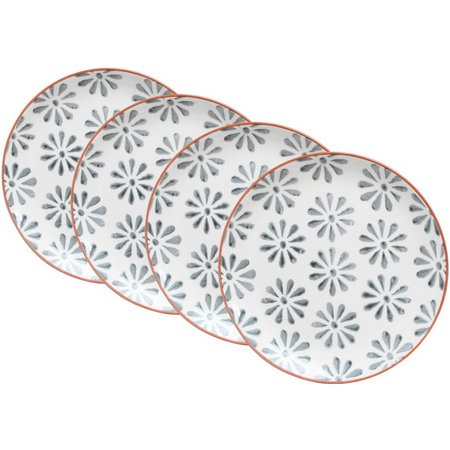 Euro Ceramica Margarida 4-pc. Salad Plate Set