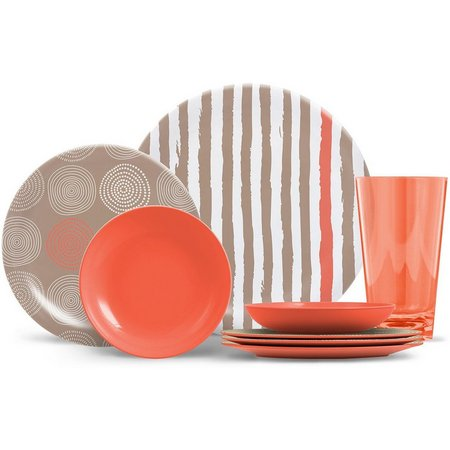 Thermoserv Stripes & Spirals 16-pc. Dinnerware Set